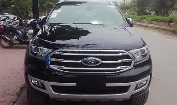 Bán xe Ford Everest Titanium 2.0L 4x4 AT đời 2019, màu đen, nhập khẩu nguyên chiếc