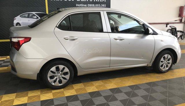 Bán Hyundai Grand i10 sedan 1.2MT base màu bạc, số sàn, sản xuất 2018, biển Sài Gòn