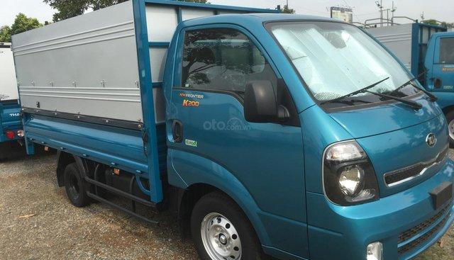 Thaco Kia K200 tải trọng 1990kg màu xanh giá 334 triệu, hỗ trợ trả góp 70% có sẵn xe giao ngay