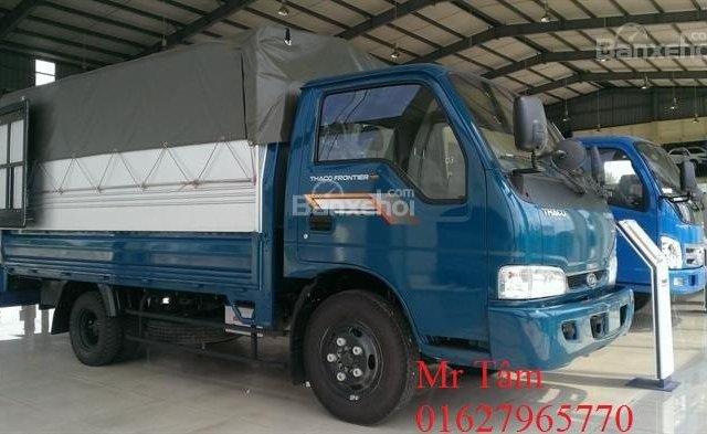 Bán xe tải Kia K165 tải trọng 2,4 tấn, thùng mui bạt, thủ tục nhanh chóng0