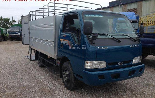 Bán xe tải Kia K165 tải trọng 2,4 tấn, thùng mui bạt, thủ tục nhanh chóng2