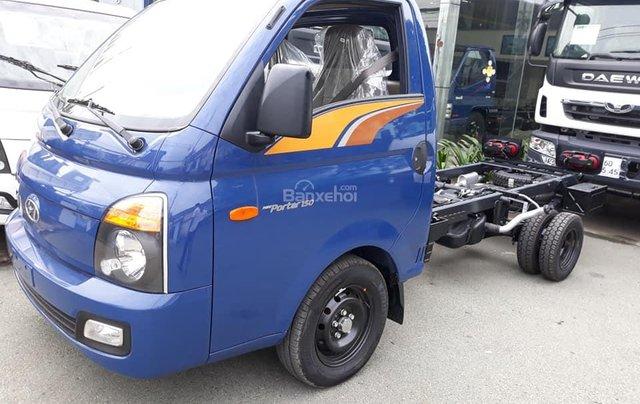 Bán Hyundai Porter mui bạt inox, tải 1.5 tấn, đời 2020, màu xanh lam, nhập khẩu1