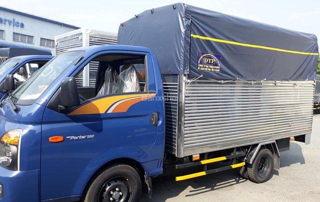 Bán Hyundai Porter mui bạt inox, tải 1.5 tấn, đời 2020, màu xanh lam, nhập khẩu2