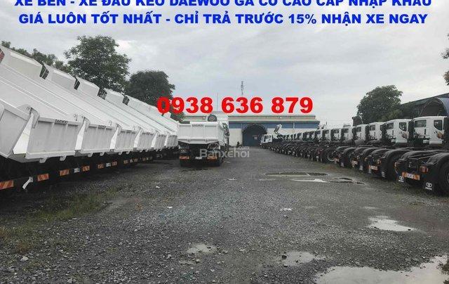 Bán xe Ben 15 tấn Daewoo ga cơ nhập khẩu - giá tốt nhất - xe giao ngay6