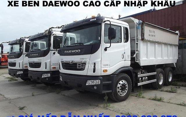 Bán xe Ben 15 tấn Daewoo ga cơ nhập khẩu - giá tốt nhất - xe giao ngay3