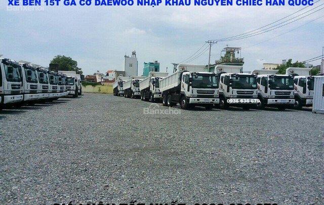 Bán xe Ben 15 tấn Daewoo ga cơ nhập khẩu - giá tốt nhất - xe giao ngay5