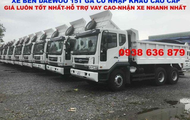 Bán xe Ben 15 tấn Daewoo ga cơ nhập khẩu - giá tốt nhất - xe giao ngay1