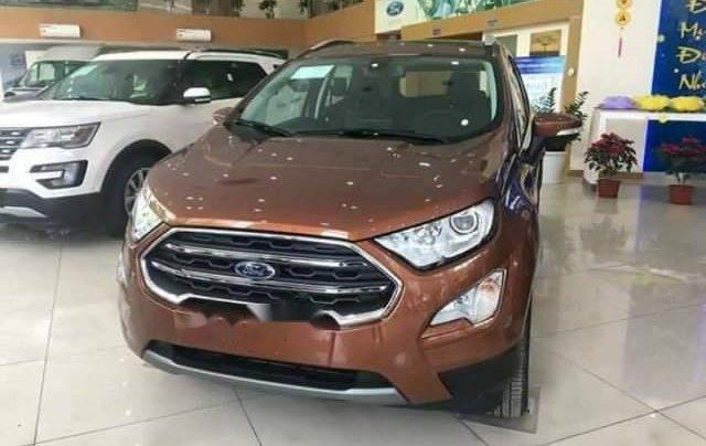 Bán Ford EcoSport Titanium 2018, màu nâu, nhập khẩu0