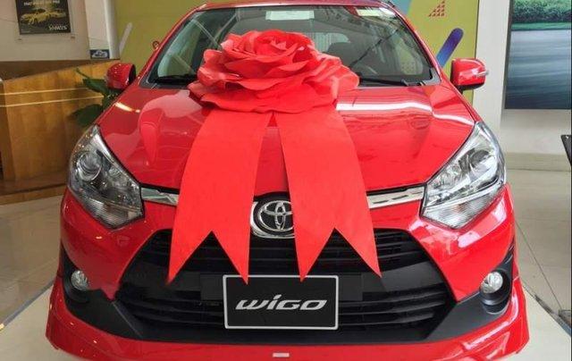 Bán ô tô Toyota Wigo sản xuất 2019, màu đỏ, nhập khẩu nguyên chiếc, giá 345tr0