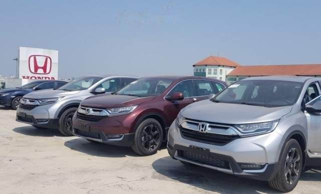 Cần bán lại xe Honda CR V sản xuất 2019, màu bạc, nhập khẩu nguyên chiếc2