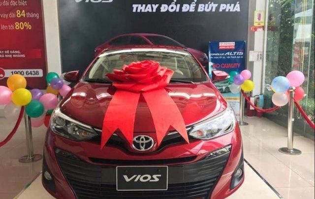 Bán xe Toyota Vios 1.5G sản xuất năm 2019, màu đỏ0