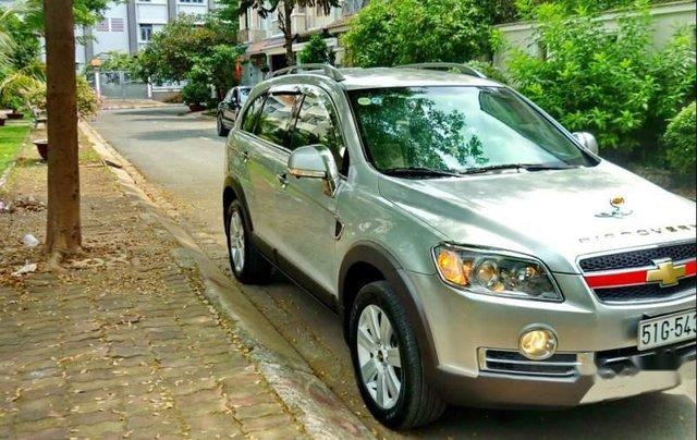 Bán xe Chevrolet Captiva đời 2009, màu bạc, chạy 62.000km0