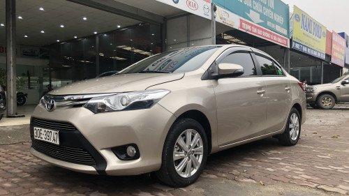 Bán Toyota Vios 1.5 AT đời 2016, màu vàng, giá 525tr2