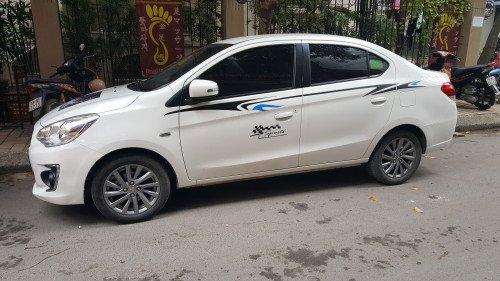 Bán xe Mitsubishi Attrage 1.2 AT đời 2017, màu trắng, nhập khẩu2