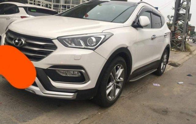 Bán Hyundai Santa Fe 2017, màu trắng còn mới0
