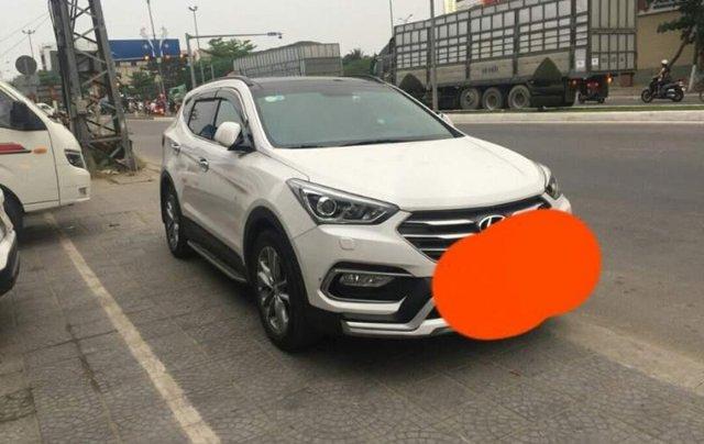 Bán Hyundai Santa Fe 2017, màu trắng còn mới3