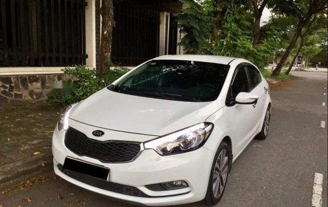 Cần bán lại xe Kia K3 2014, màu trắng còn mới, 419 triệu0