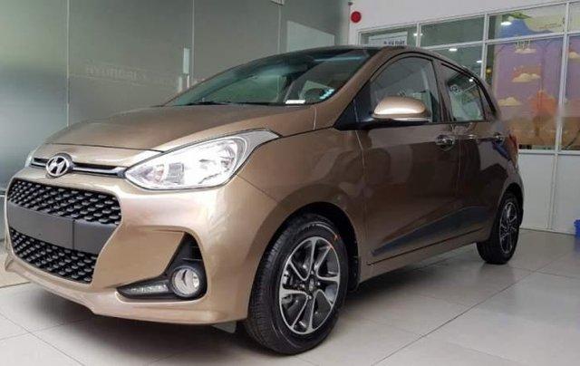 Bán ô tô Hyundai Grand i10 năm sản xuất 2019, màu nâu giá cạnh tranh0