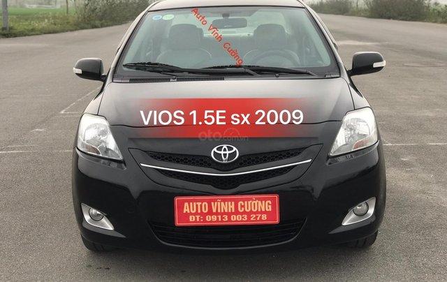 Bán xe Toyota Vios 1.5E MT đời 2009, màu đen0