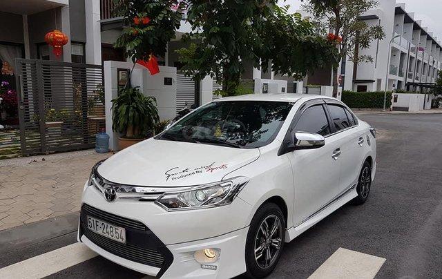 Bán ô tô Toyota Vios G 2015, màu trắng, giá 480tr, 4 vỏ mới, cách âm, sub Đức, bánh mâm, full body kit0