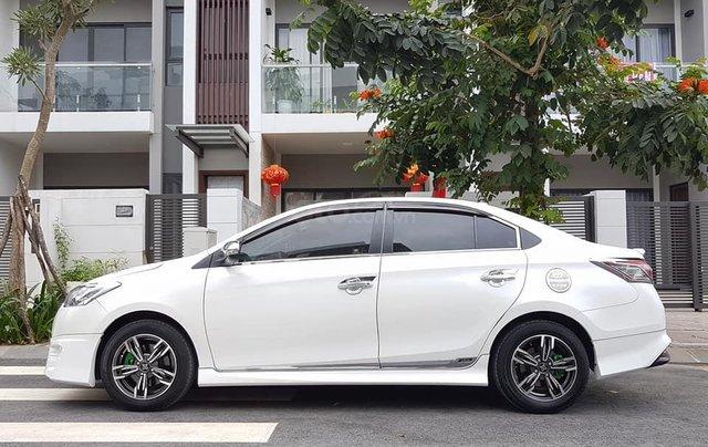 Bán ô tô Toyota Vios G 2015, màu trắng, giá 480tr, 4 vỏ mới, cách âm, sub Đức, bánh mâm, full body kit1