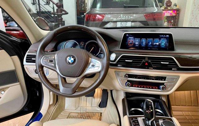 Bán ô tô BMW 7 Series 740 Li model 2016, màu đen, nội thất kem10