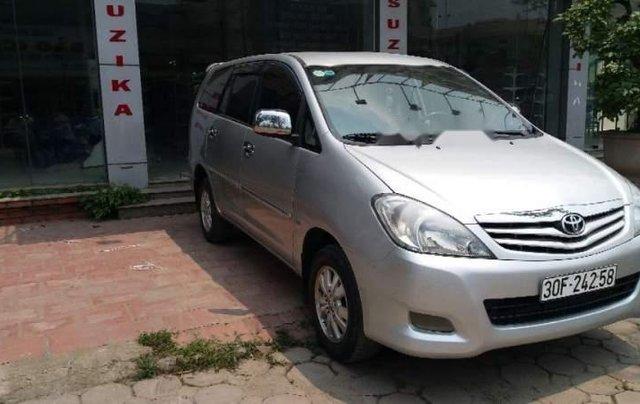 Cần bán Toyota Innova MT đời 2011, màu bạc, biển HN0