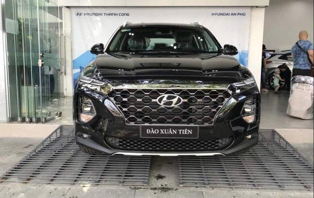 Bán Hyundai Santa Fe 2019, màu đen0