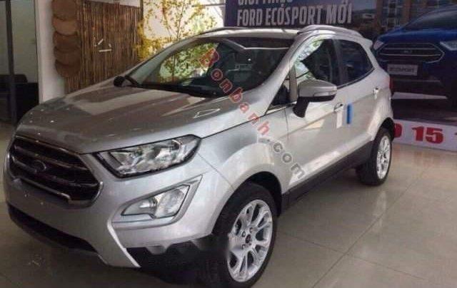 Bán Ford EcoSport Titanium 1.5L AT 2019, màu bạc, giá 605tr0