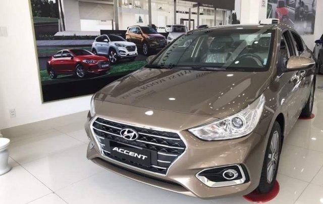 Bán xe Hyundai Accent sản xuất 2019, màu nâu0