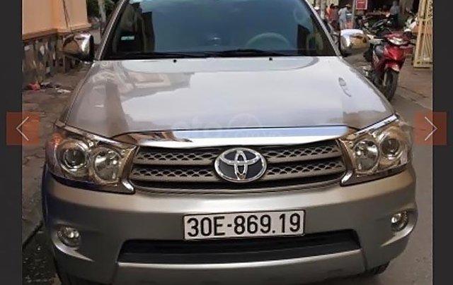 Chính chủ cần bán xe Fortuner 2009 màu bạc, đi 121.000 km0