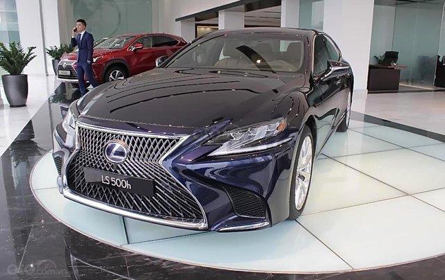 Bán xe Lexus LS 500h năm sản xuất 2018, màu xanh lam, xe nhập1