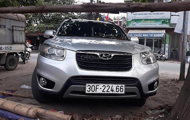 Cần bán xe Hyundai Santa Fe SLX 2.0AT đời 2012, màu bạc, nhập khẩu xe gia đình0