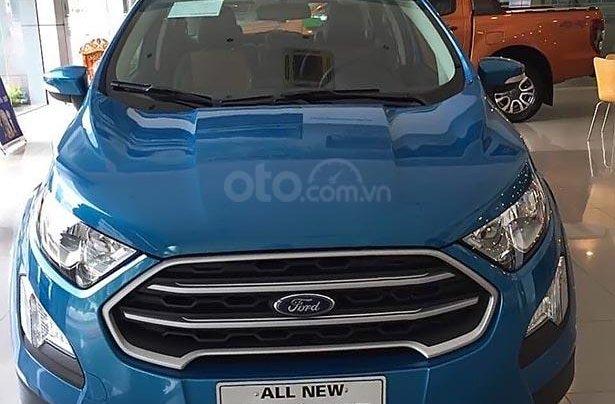 Bán xe Ford EcoSport Titanium 1.5L AT 2019, màu xanh lam, giá 605tr1