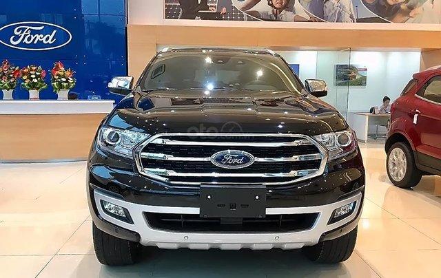 Bán Ford Everest Titanium 2.0L 4x4 AT 2019, màu đen, nhập khẩu  0