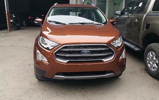 Bán xe Ford EcoSport Titanium 1.0 EcoBoost đời 2019, màu nâu, 639tr0