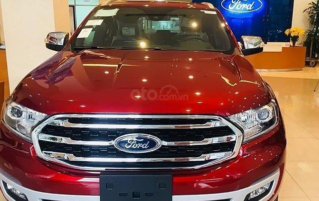 Bán Ford Everest sản xuất 2019, màu đỏ, nhập khẩu0
