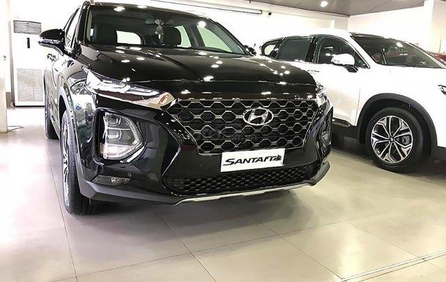 Bán Hyundai Santa Fe 2.4L HTRAC năm 2019, màu trắng0