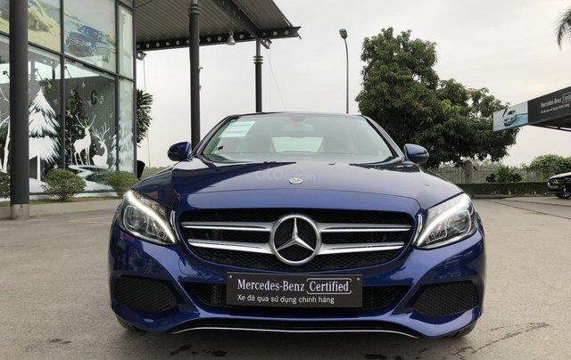 Cần bán Mercedes C200, màu xanh nội thất đen4