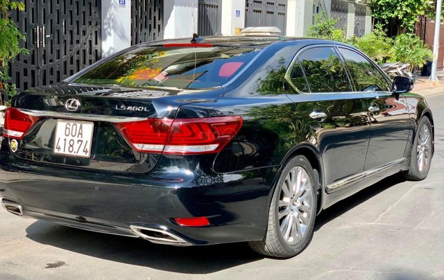 Bán Lexus LS460L sản xuất 2007 lên model 2016 màu đen nội thất đỏ2