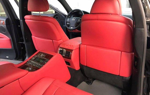 Bán Lexus LS460L sản xuất 2007 lên model 2016 màu đen nội thất đỏ8