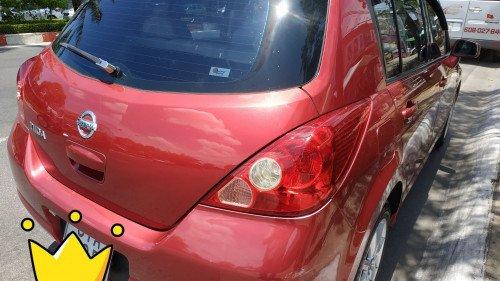 Gia đình bán Nissan Tiida 1.6 AT năm 2008, màu đỏ  1