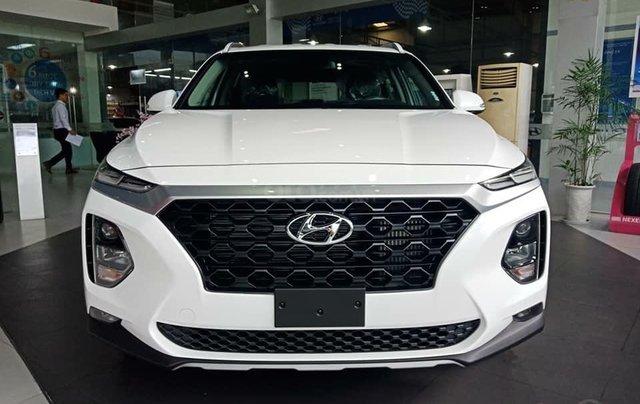 Bán Hyundai Santa Fe 2019, màu trắng, xe nhập, giá chỉ 995 triệu0