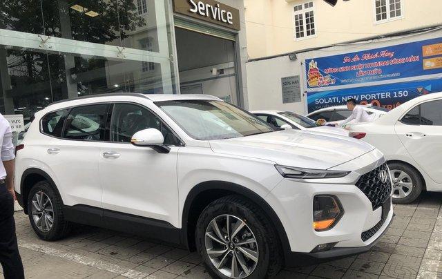 Bán Hyundai Santa Fe 2019, màu trắng, xe nhập, giá chỉ 995 triệu4