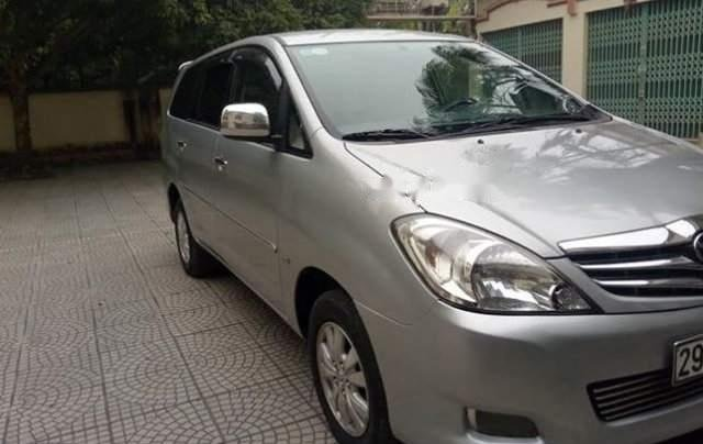 Cần bán lại xe Toyota Innova AT đời 2008, màu bạc, đăng ký 20090
