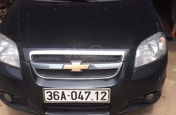 Bán xe Chevrolet Aveo 1.5MT đời 2013, màu đen, xe như mới0
