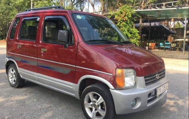 Bán Suzuki Wagon R+ 1.0 MT đời 2002, màu đỏ0
