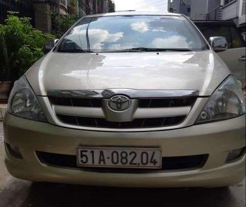 Bán xe Toyota Innova G 2007, màu vàng cát, không chạy dịch vụ, taxi0