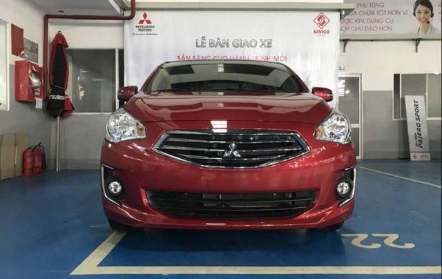 Bán xe Mitsubishi Attrage năm sản xuất 2019, màu đỏ, nhập khẩu Thái, giá tốt5