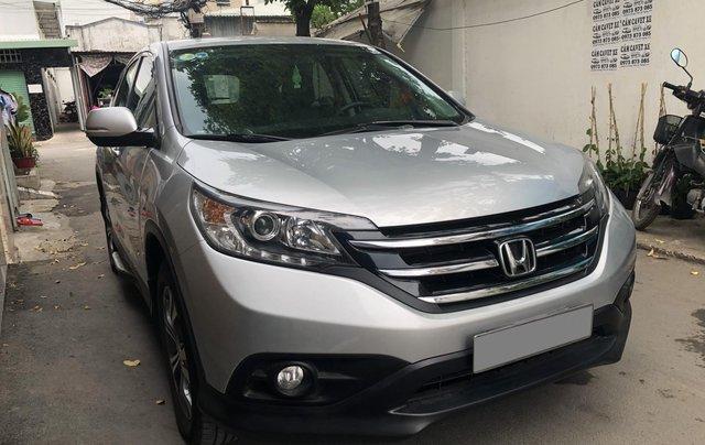 Bán Honda CRV 2015 tự động màu bạc xe bstp chính chủ0